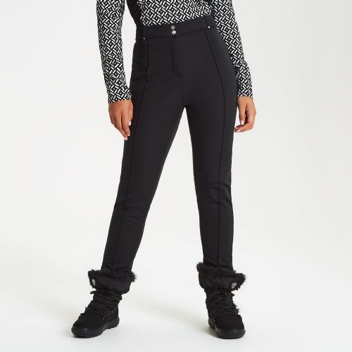 Women's Slender Tapered Fit Luxe Ski Pants Black